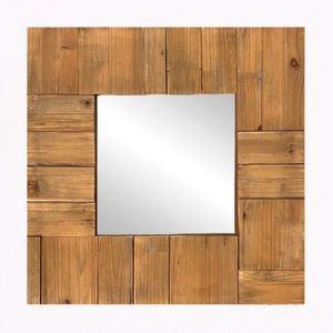"""Threshold™ Reclaimed Wood Accent Mirror (16x16"""")"""